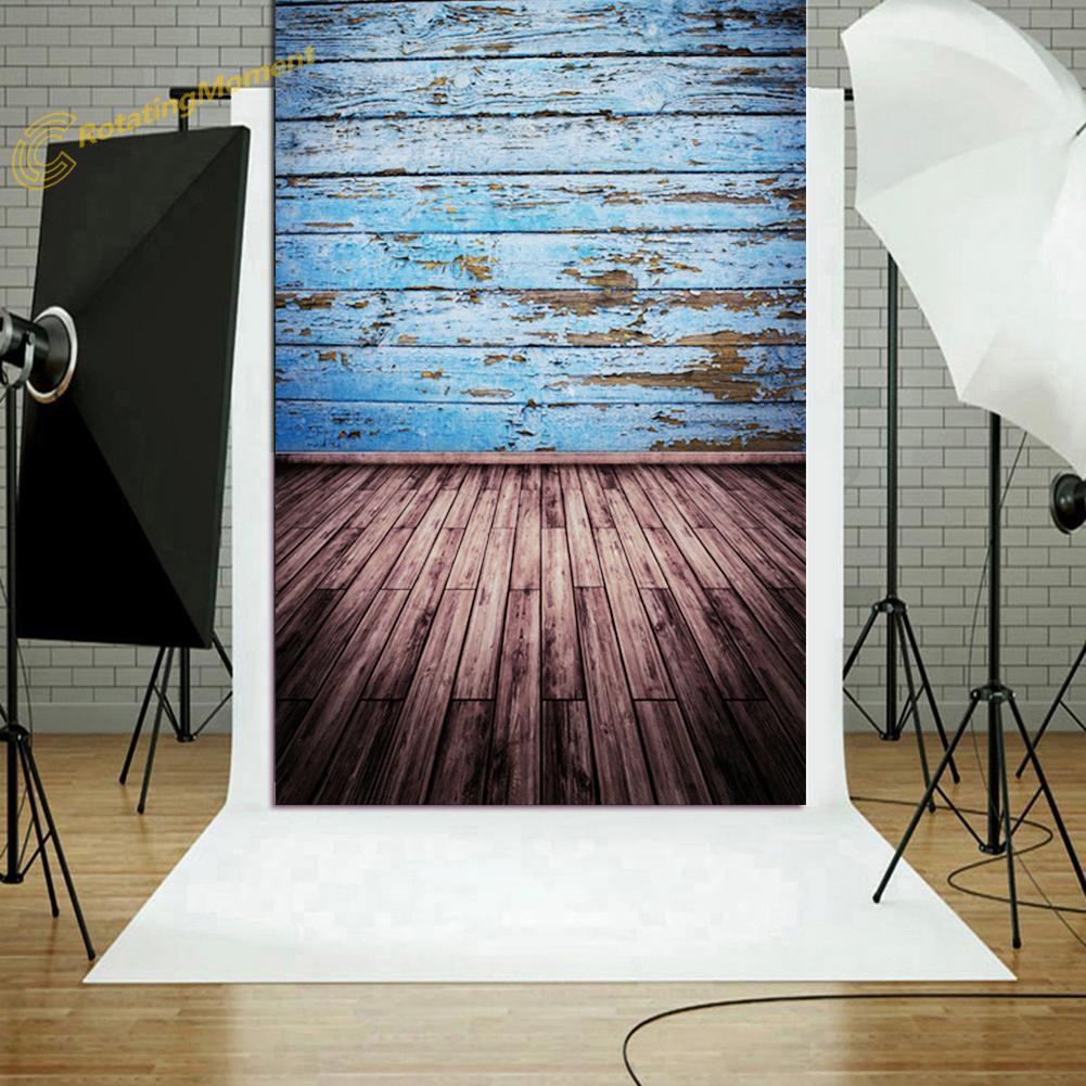 ❇o❇Background Fabric Wood Floor Wall Photography Studio Props Backdrop Decor
