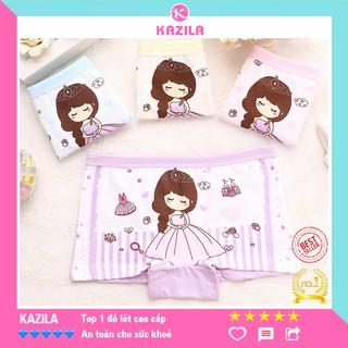 Quần chip đùi bé gái cotton tinh khiết hạng A, quần lót bé gái công chúa Kazila QDG1
