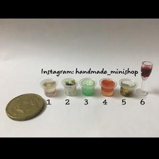 Các loại nước uống cho búp bê -miniature (1:12)