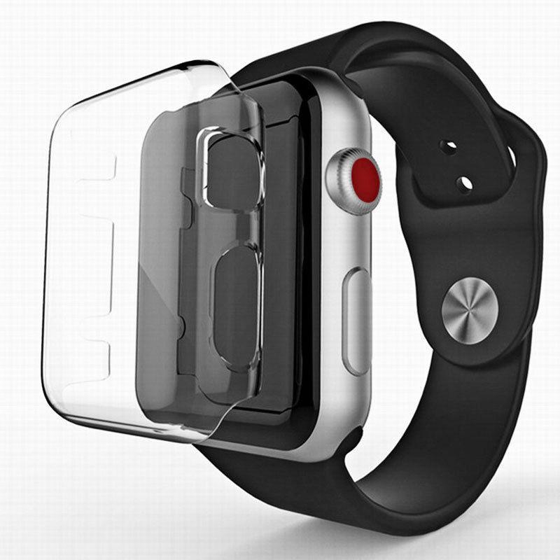 Vỏ TPU siêu mỏng 0.3mm HD bảo vệ màn hình đồng hồ cho Apple Watch 3/2/1