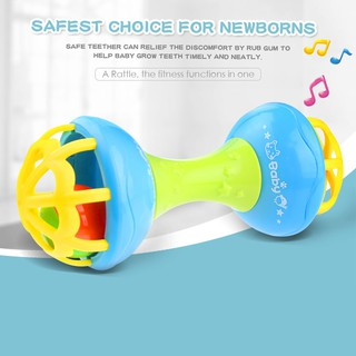 Baby Rattles toy Intelligence Grasping Gums Hand Bell Rattle Educational Toys
