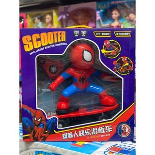 Đồ chơi người nhện đi Scooter điều khiển từ xa