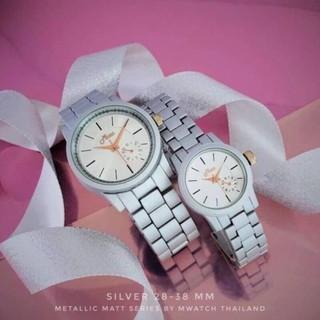 Đồng hồ cặp Nam Nữ brand Mwatch nội địa Thái (Series METALLIC) thumbnail