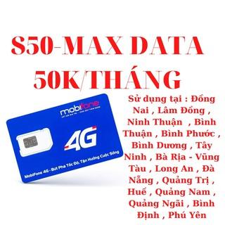 Sim Mobifone S50 max data , Không giới hạn dung lượng , 50k tháng thumbnail