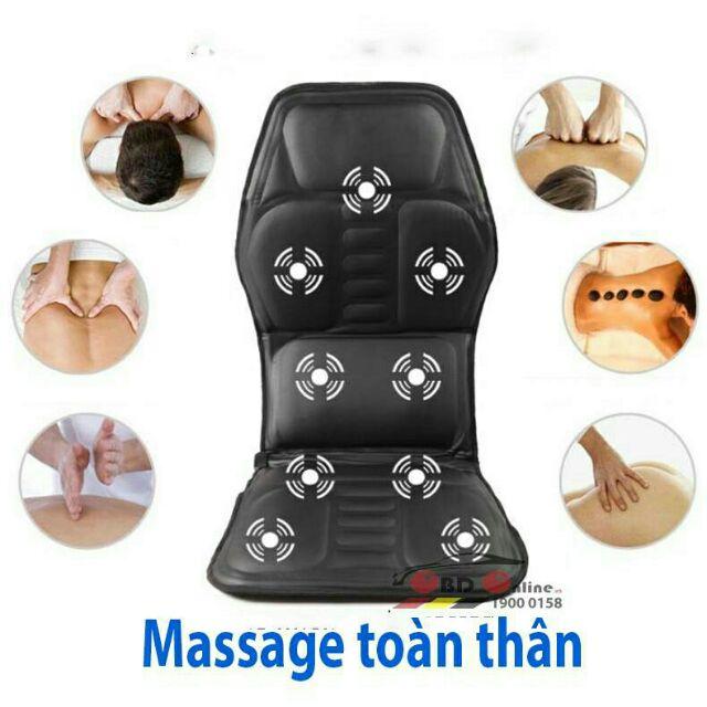 [Tặng tinh dầu treo xe] Thảm masage toàn thân cao cấp QL-007.