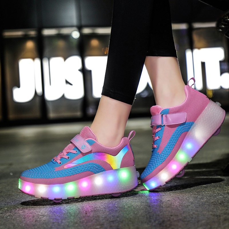 Giày Heelys Hai Bánh YOZOH Size 29-40 Dành Cho Trẻ Em Và Bạn Nữ
