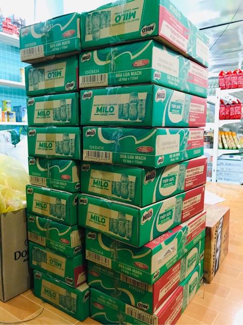 Lốc sữa MILO 180ml (2vỉ/lốc) date mới nhất
