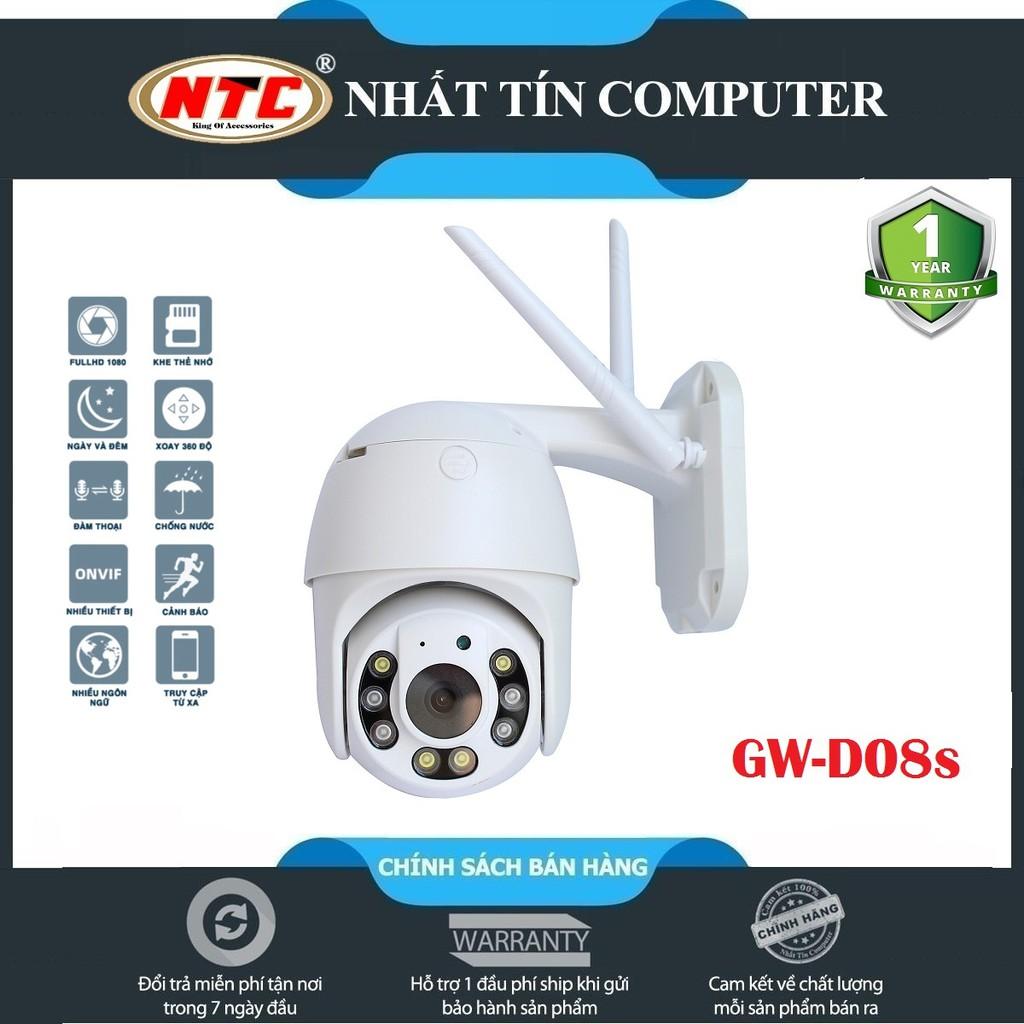 Camera IP Wifi Ngoài trời Yoosee GW-D08s PTZ 2 Râu FullHD 1080P 4 LED trợ sáng, 4 LED hồng ngoại, xoay 355° (Trắng)