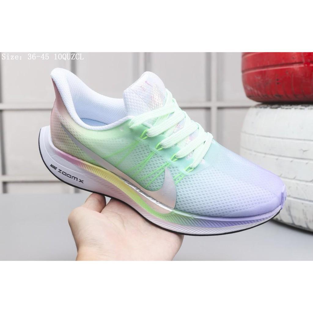 ของแท้ NIKE ZOOM PEGASUS 35 TURBO รองเท้าผู้ชาย รองเท้าผู้หญิง รองเท้ากีฬา รองเท้าวิ่ง นันทนาการ ระบายอากาศ -D1