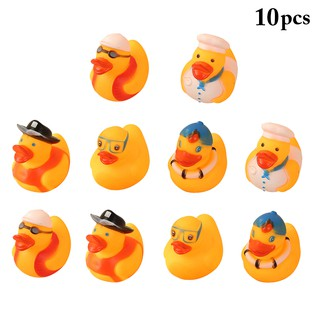 10PCS Baby Bath Toy Squeaky Duck Shower Toy Bathtoy for Toddlers Kids