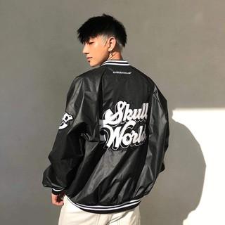 [Mã SKAMCLU7 giảm 10% Tối Đa 50K đơn 0Đ] Áo Khoác BOMBER Thêu Logo Skull nam nữ Kun Shop