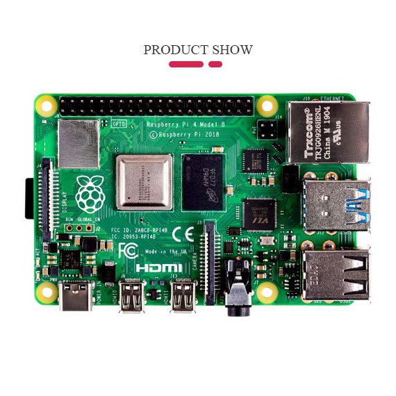 Máy tính Raspberry Pi 4 (4B) 2019 Rev 1.2 - Bản RAM 4GB hoặc 2 GB RAM
