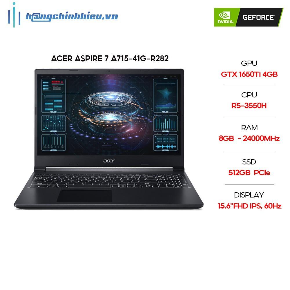 LAPTOP ACER ASPIRE 7 A715-41G-R282 R5-3550H | 8GB | 512GB | VGA GTX 1650TI 4GB | 15.6'' FHD | WIN 10