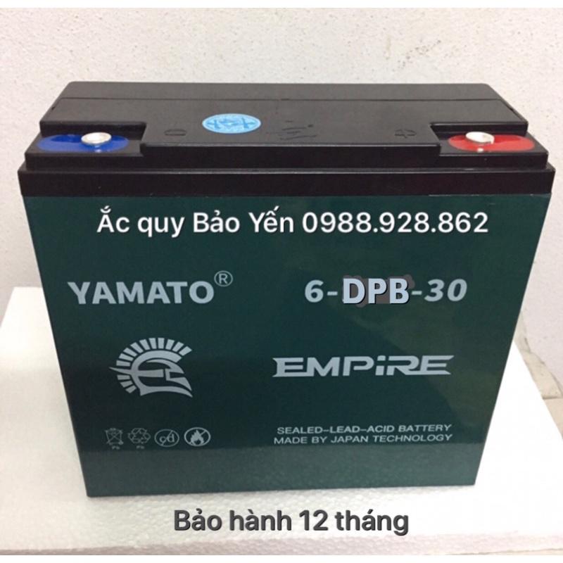 Ắc quy EMPIRE 12V-30Ah YAMATO cao cấp, ắc quy xe máy điện, bảo hành 1 năm