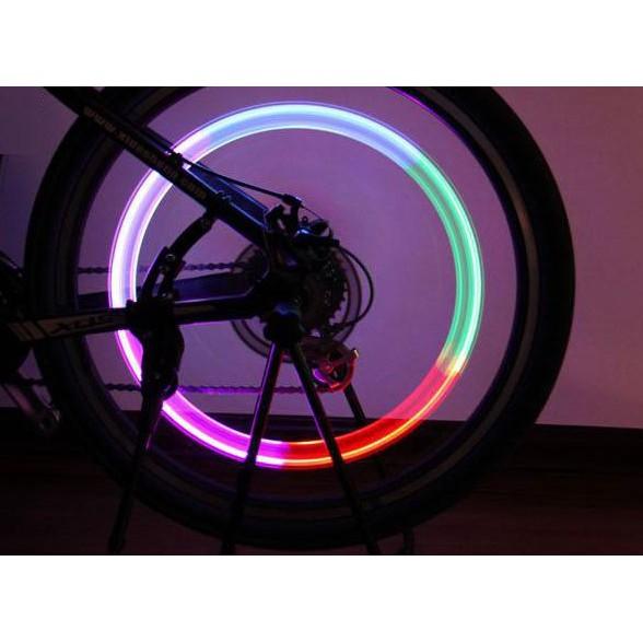 Đèn gắn van xe 07 màu, phát sáng khi xe chuyển động độc đáo và cá tính