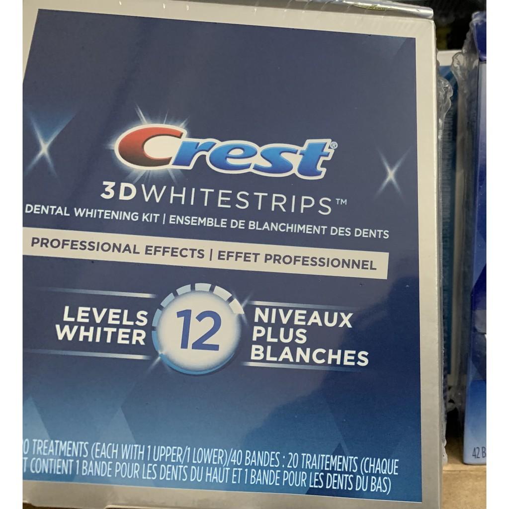 1Miếng dán trắng răng Crest 3D White hàng Mỹ chính hãng