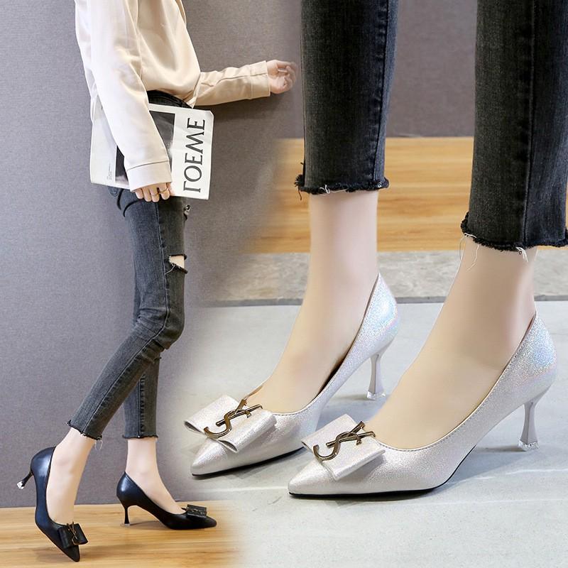 Giày Cao Gót Đính Đá Thời Trang Hàn Quốc 2020
