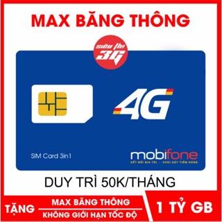 Sim 4G Mobifone gói S50 dùng data thả ga chỉ 50k tháng
