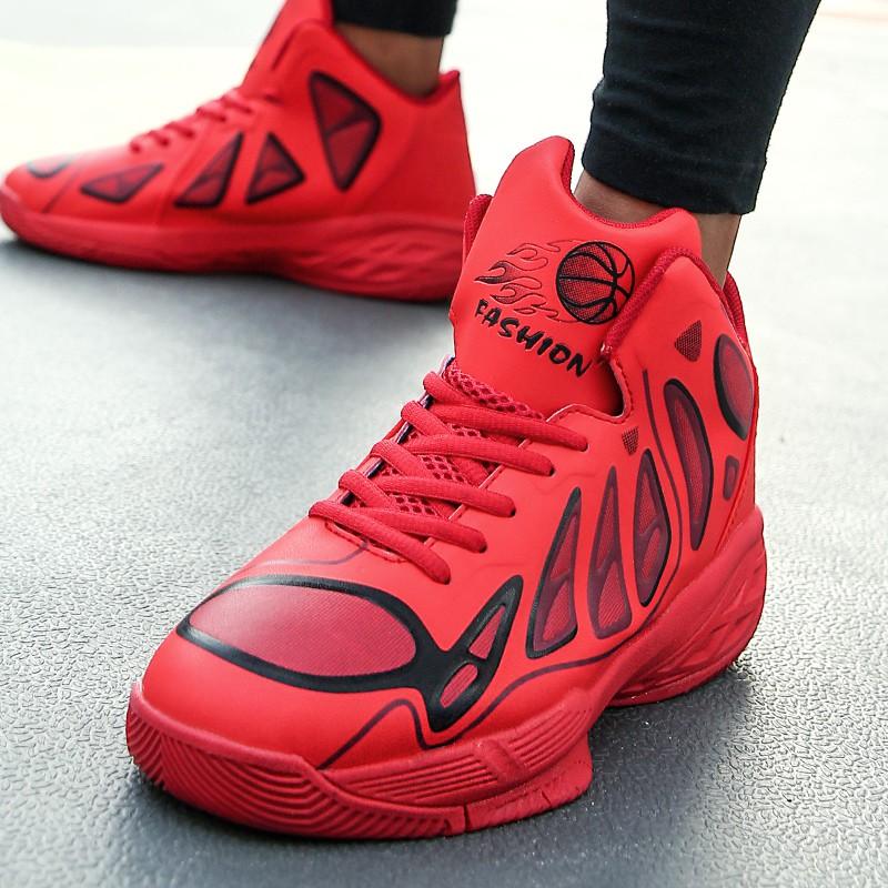 【จัดส่งฟรี】ึกหรอรองเท้าระบายอากาศได้กระแทกฤดูใบไม้ผลินักเรียนรองเท้ากีฬาบาสเกตบอล