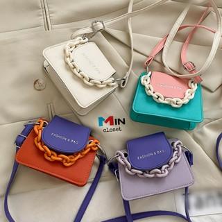 Túi xách nữ 💖 𝑭𝑹𝑬𝑬𝑺𝑯𝑰𝑷 💖 Túi đeo chéo nữ mini phối màu Fashion & Bag TD13