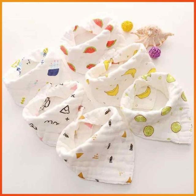[RẺ NHẤT] - Yếm cotton 2 lớp cho bé