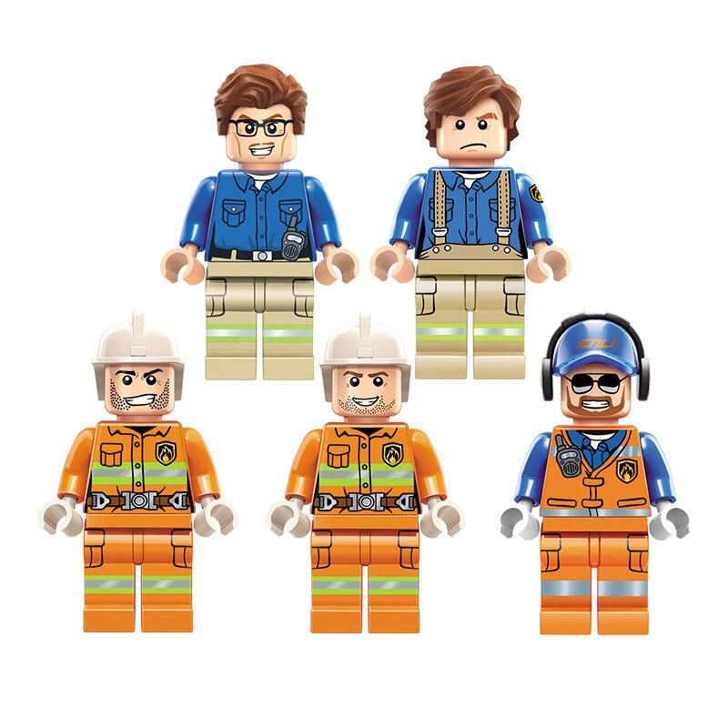 Lắp ráp Lego Trạm Cứu Hỏa - enlighten 2808