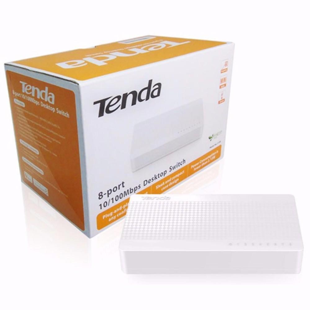 Bộ chia mạng SWITCH TENDA 8 PORT S108 10/100Mbps Giá chỉ 200.000₫