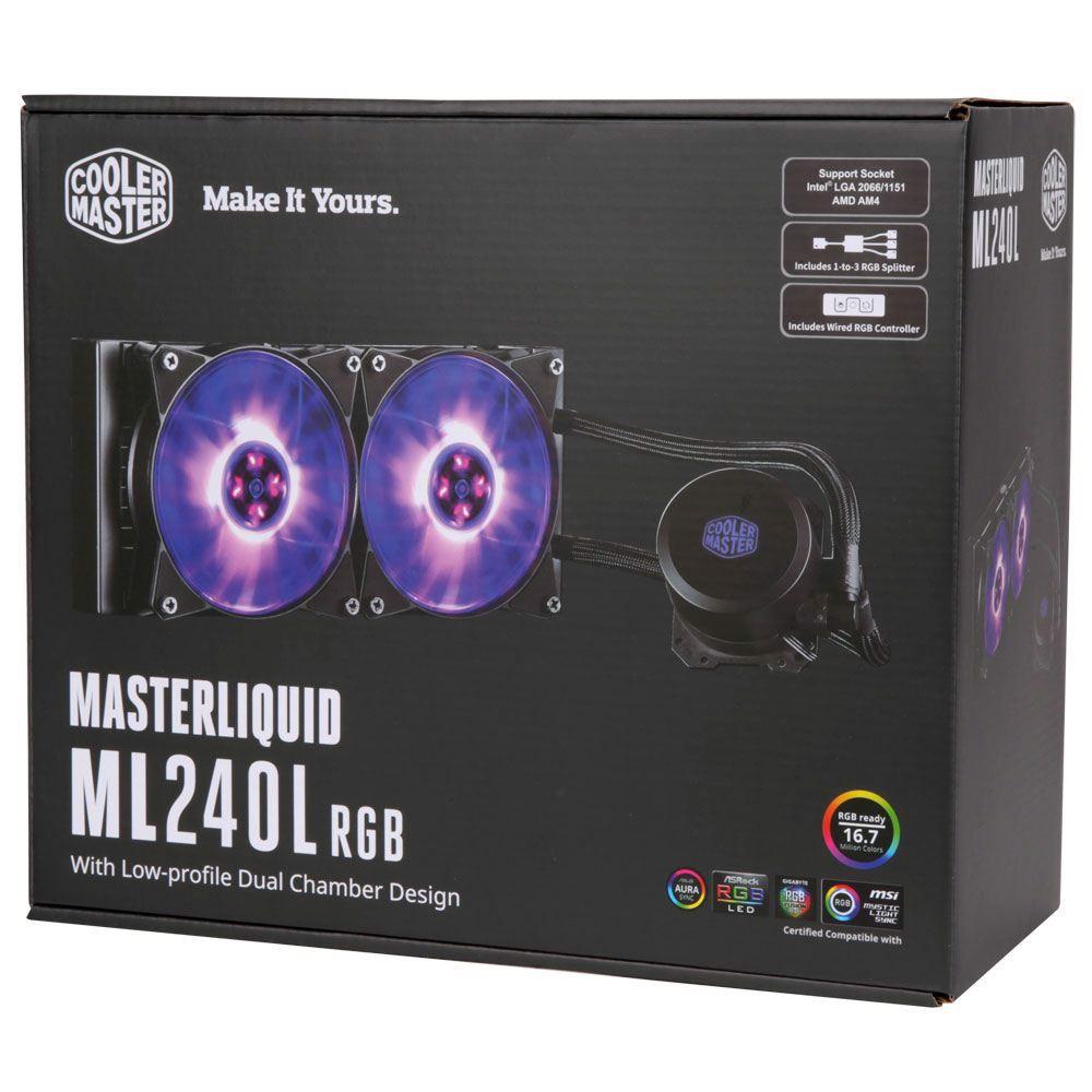 [Mã 267ELSALE hoàn 7% đơn 300K] Tản nhiệt nước CPU Coolermaster MASTERLIQUID ML240L RGB