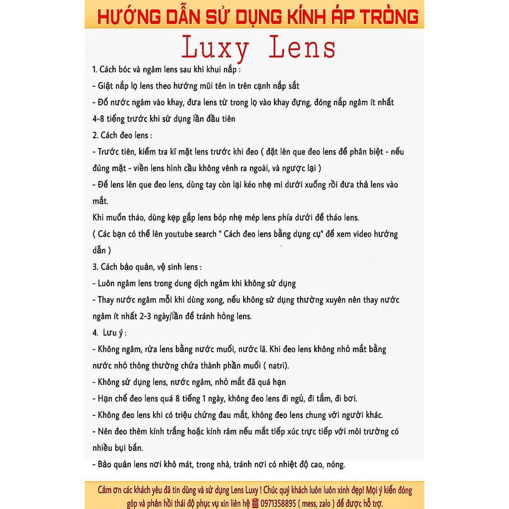 [ Ảnh Thật ] Lens Jelly Brown 0 Độ Lens Hàn Quốc - LUXY LENS [ Cam Kết Chất Lượng]