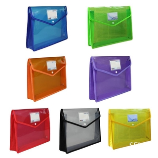 SEL A4 B4 Transparent Document Storage Organizer Three-Dimensional Papers File Bag