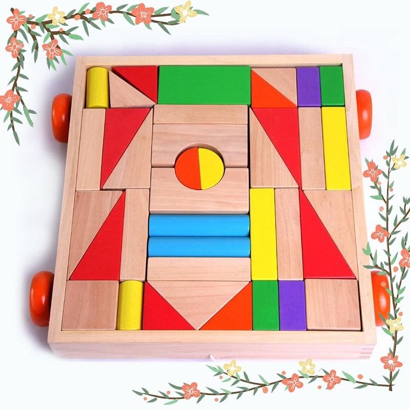 38 Pieces of Children's Building Blocks Toys Building Blocks Children's Early Education Learning Appliances