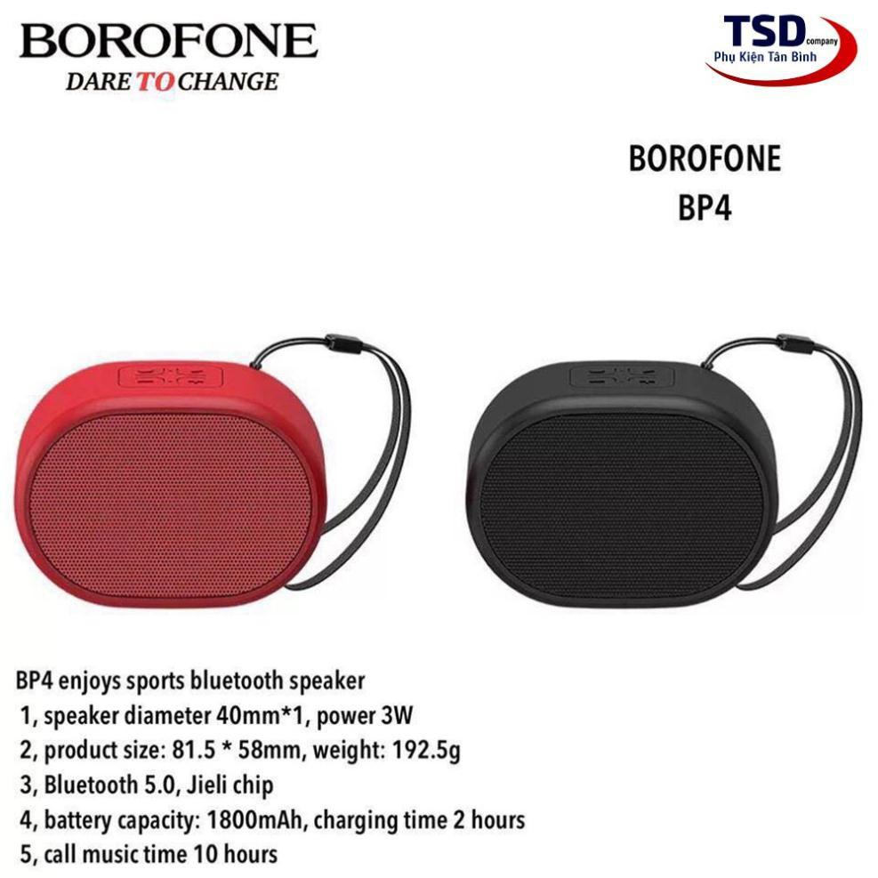 Loa bluetooth mini Borofone BP4 chính hãng có móc treo, nghe nhạc 10 giờ