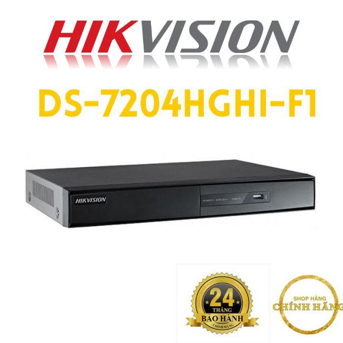 Đầu ghi hình HD-TVI 4 kênh TURBO 3.0 HIKVISION DS-7204HGHI-F1