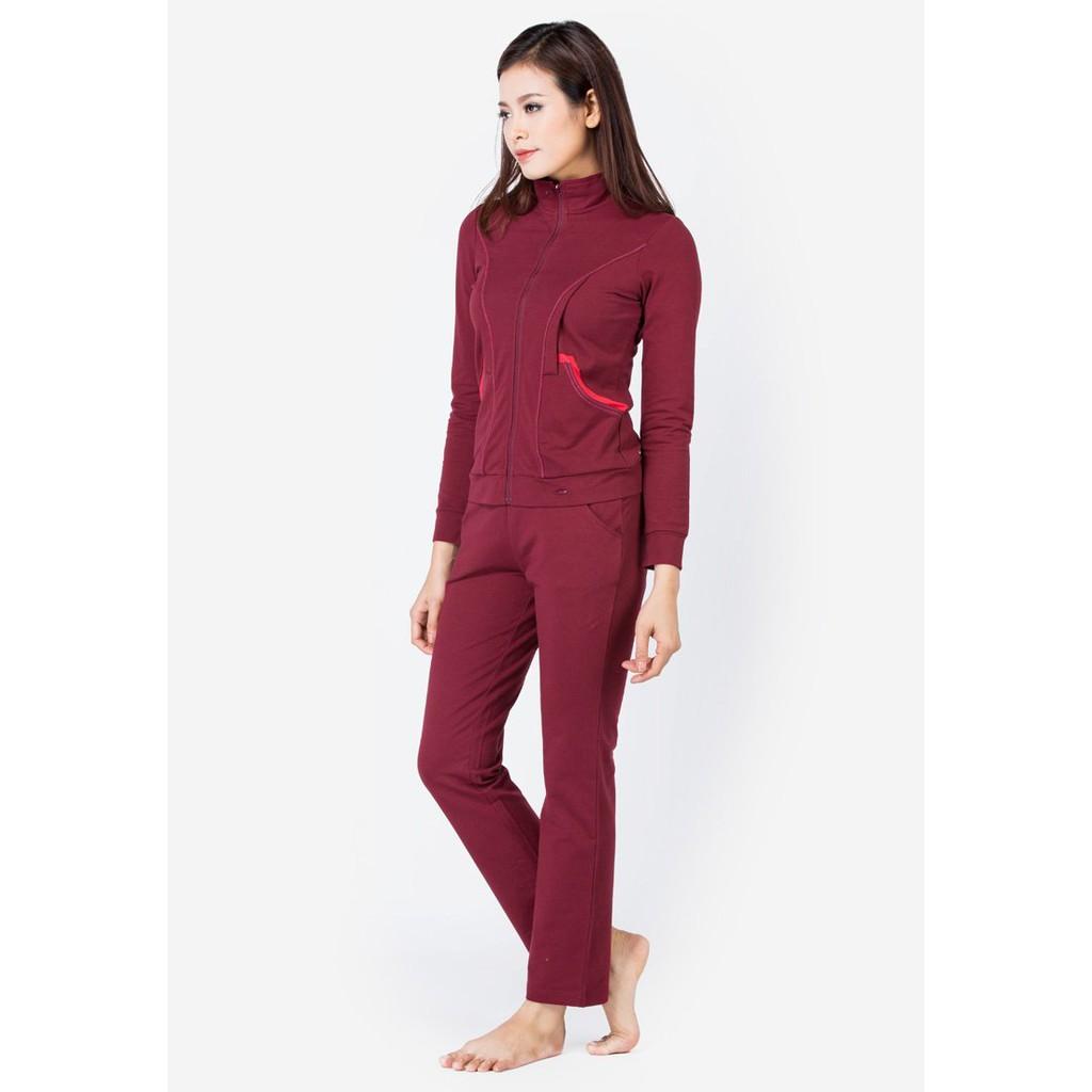 Bộ mặc nhà Winny thu đông 3950 màu đỏ Hung
