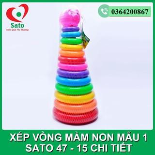 Bộ đồ chơi XẾP VÒNG MẦM NON SATO MẪU 1 – 15 chi tiết (Sato47)