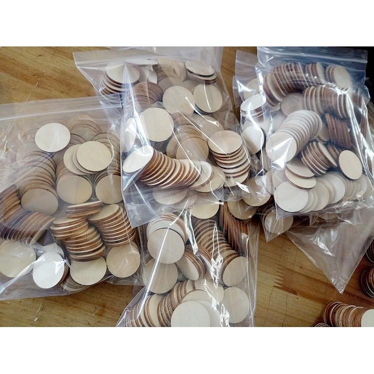 [ĐỒ_CHƠI_GIÁ_SỈ] 100 hạt gỗ tròn cho bé sáng tạo