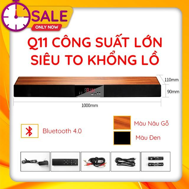 { HOT } Loa Thanh Dài Bluetooth Gaming Soundbar Để Bàn Q11 Công Suất Lớn Dùng Cho Máy Vi Tính PC, Laptop, Tivi