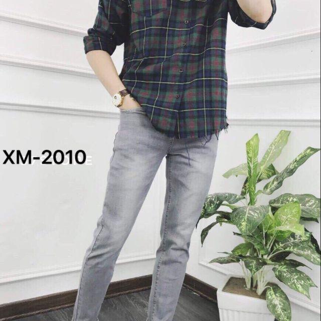 Quần jean nam đẹp quần jeans Nam thời trang mẫu trơn hàng chuẩn shop 2010 ( có size đại 33-34)