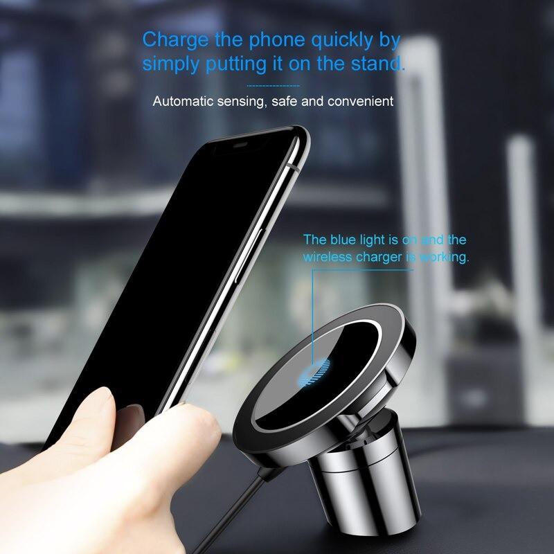 Đế giữ điện thoại tích hợp sạc không dây Baseus Big Ears Car Mount Wireless Charger