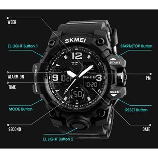 Đồng hồ điện tử nam SKMEI 1155B dây cao su phong cách thể thao mạnh mẽ