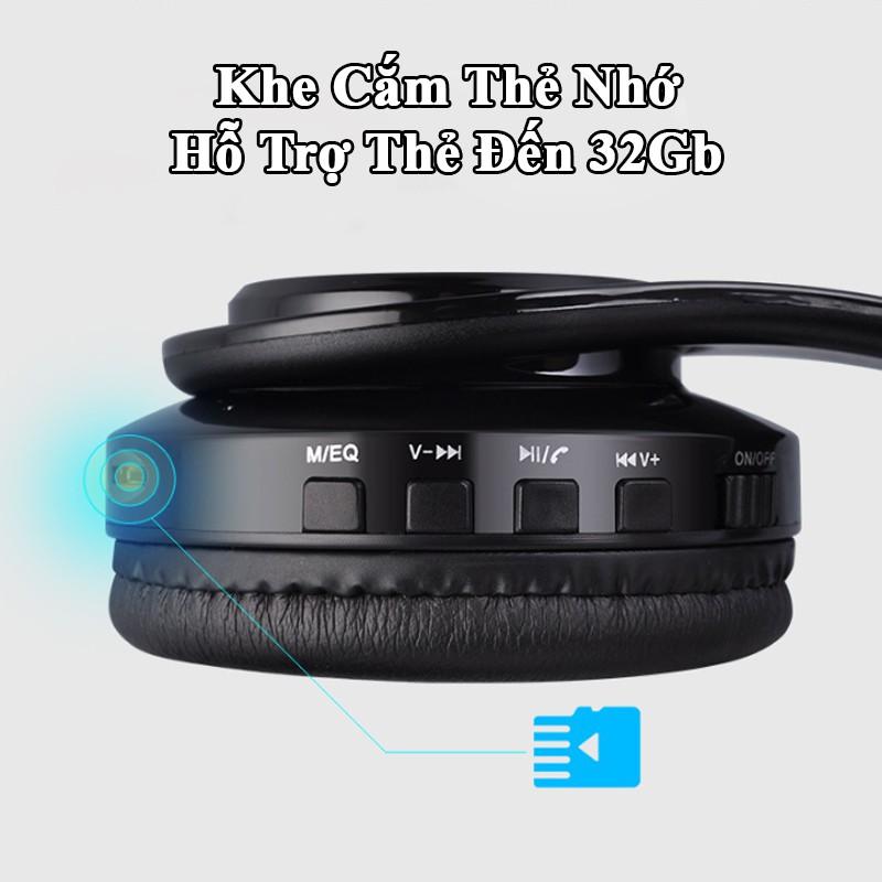 Tai nghe bluetooth chụp tai có mic đàm thoại, headphone tai nghe bluetooth không dây cao cấp