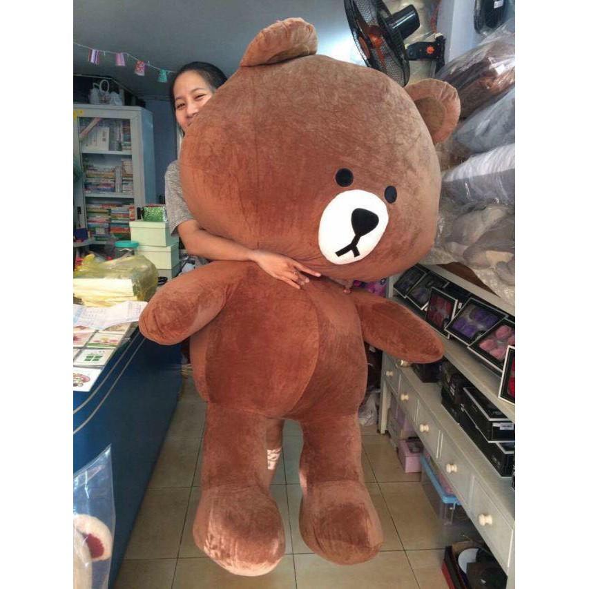 Gấu bông Brown siêu bự Khổ vải 1m7 - Chiều cao 1m5 - Hàng cao cấp siêu đẹp