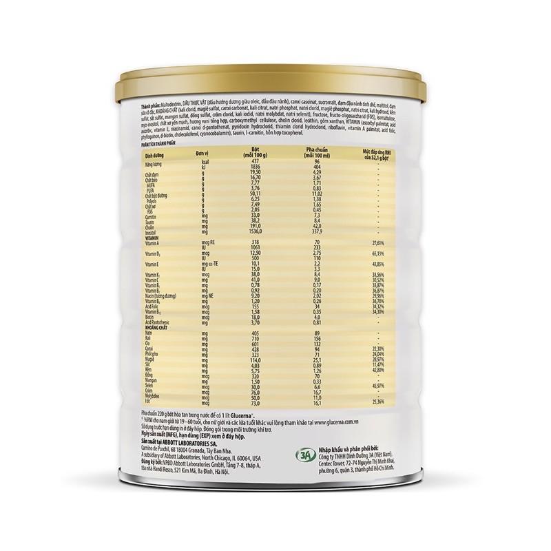 Sữa Bột Glucena 850gram- Mẫu mới