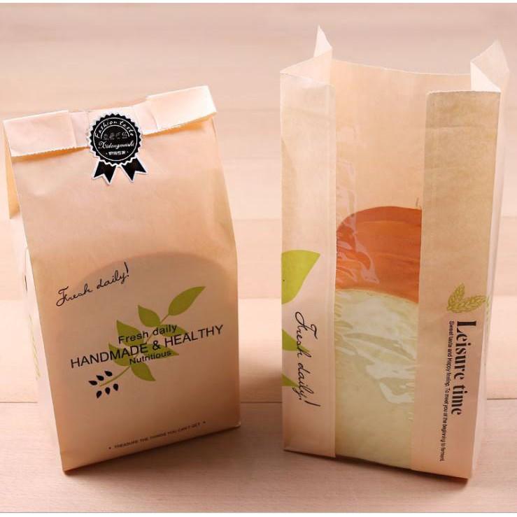 Túi bánh mỳ hoa cúc bịch 100 cái ( 30cmx 12cm)