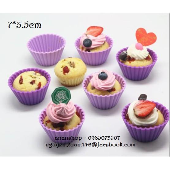 100 cupcake silicon tròn