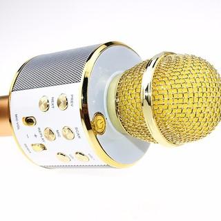Micro bluetooth WS - 858, WS858 hát karaoke, nghe FM, kiêm sạc dự phòng, khe cắm thẻ nhớ