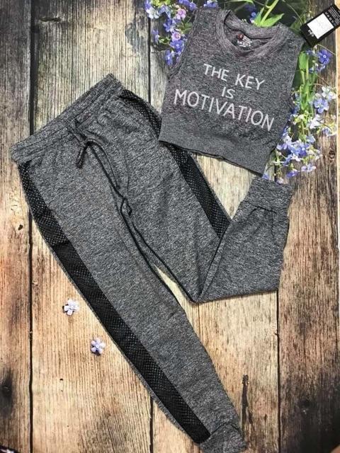 Quần thể thao nữ kiểu jogger chuyên gym, yoga...