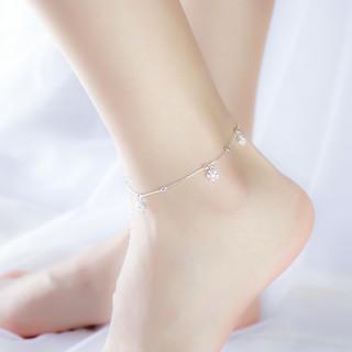 Lắc chân kép đôi dây mix bị phay bạc ý s99 nữ LC-1550