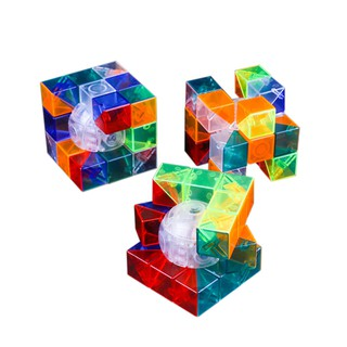 Transparent 6 Color Cube Intellectual Development Speed Puzzle Cubes Educational