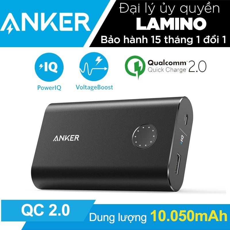 Pin sạc dự phòng ANKER PowerCore+ 10050mAh QC 2.0 - Hãng phân phối chính thức